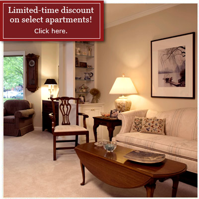 Limited Time Discount on Select Apartments